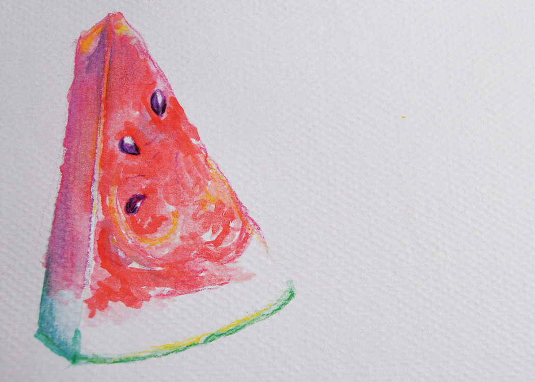 Watercolor Watermelon 2