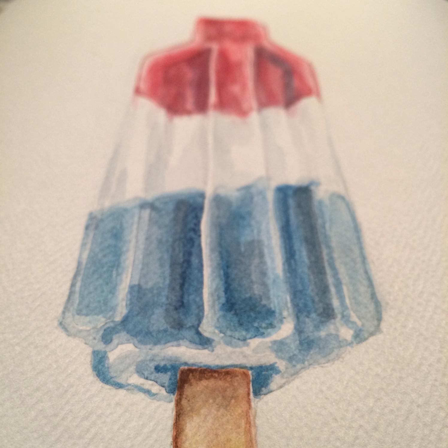 Rocket Pop Watercolor 7/14